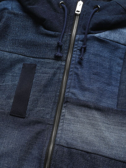 Diesel - D-55PARKA, Medium blue - Winter Jackets - Image 3