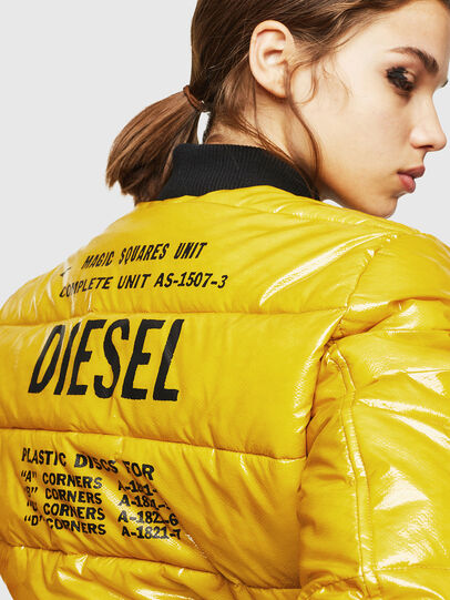 Diesel - W-ONY, Yellow - Winter Jackets - Image 3