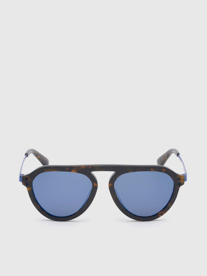 Diesel - DL0277, Dark Brown - Sunglasses - Image 1