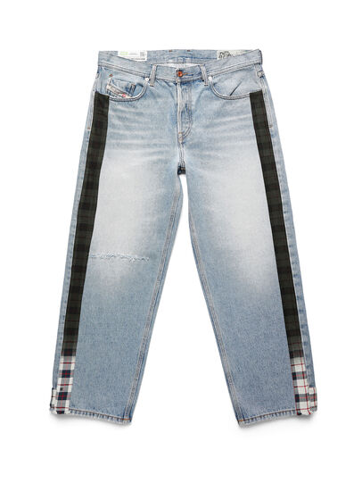Diesel - D-DEEPCHECKDENIM, Light Blue - Pants - Image 1