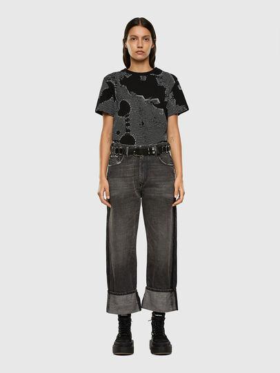 Diesel - T-DARIA-E4, Black - T-Shirts - Image 4