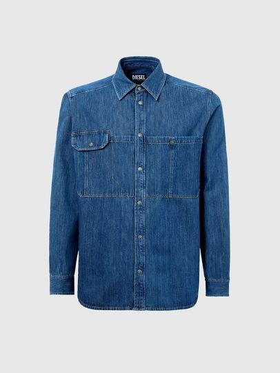 Diesel - D-MILLY-SP, Medium blue - Denim Shirts - Image 5