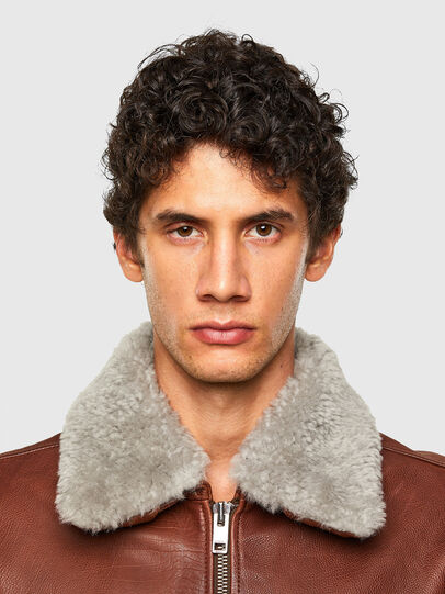 Diesel - L-STEPHEN, Brown - Leather jackets - Image 4