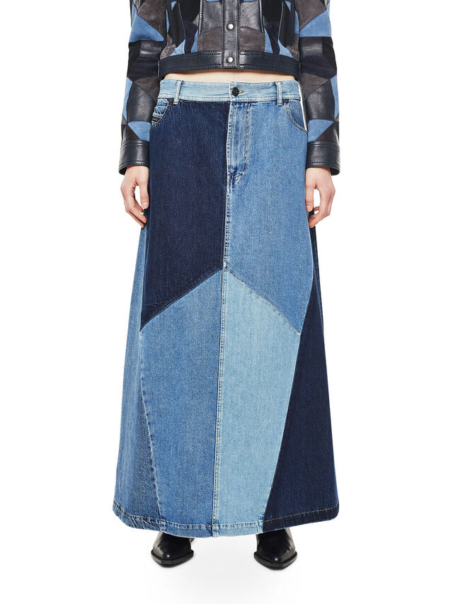 Diesel - ODETTE, Blue Jeans - Skirts - Image 1