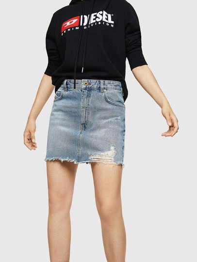 Diesel - DE-ELLE, Light Blue - Skirts - Image 1