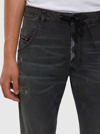Diesel - Krooley JoggJeans 009LB, Black/Dark grey - Jeans - Image 5