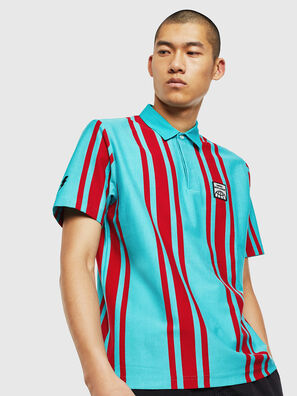 T-POLO-STRIP, Blue/Red - Polos
