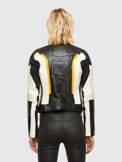 Diesel - ASTARS-LQUATTRO-B, Black - Leather jackets - Image 2