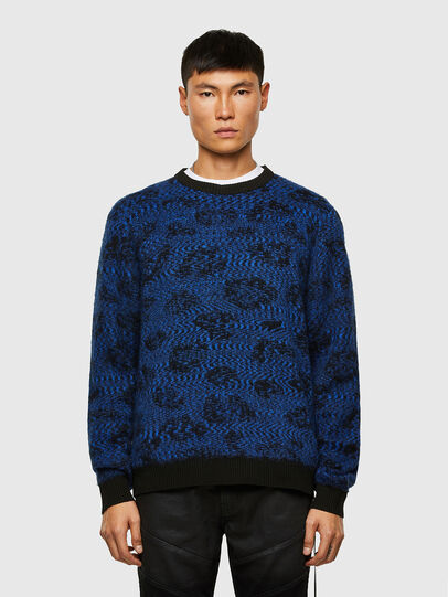 Diesel - K-AZOTIC, Black/Blue - Knitwear - Image 1