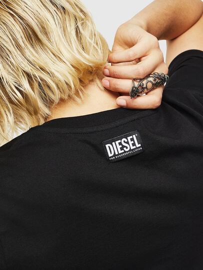 Diesel - T-SILY-YB, Black - T-Shirts - Image 4