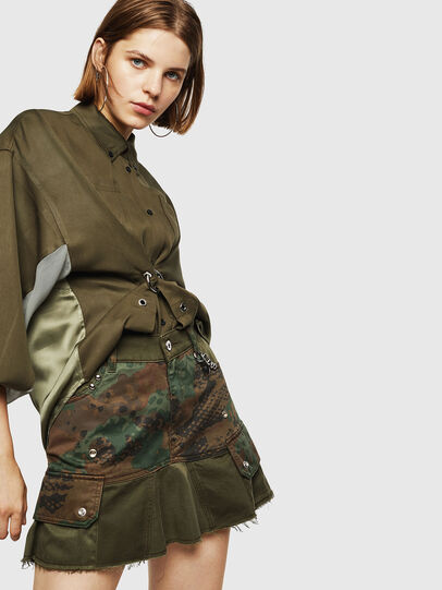 Diesel - O-AMATA, Green Camouflage - Skirts - Image 5