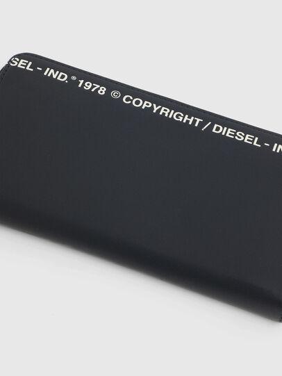 Diesel - 24 ZIP, Dark Blue - Zip-Round Wallets - Image 4