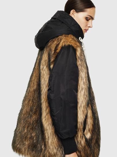 Diesel - L-ALYANA, Black/Brown - Leather jackets - Image 6