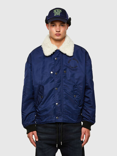 Diesel - J-LEANDER, Blue - Winter Jackets - Image 1
