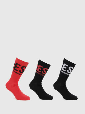 SKM-RAY-THREEPACK, Black/Red - Socks