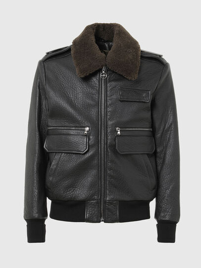 Diesel - L-FRED, Black - Leather jackets - Image 1