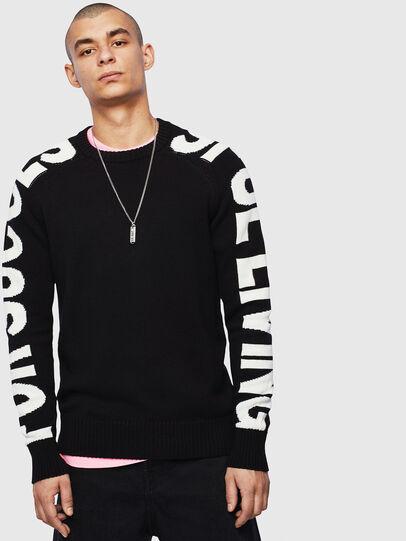 Diesel - K-INTARY, Black - Knitwear - Image 1