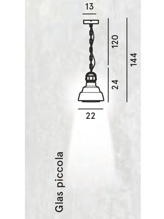 Living GLAS PICCOLA, Silver - Hang Lighting - Image 2