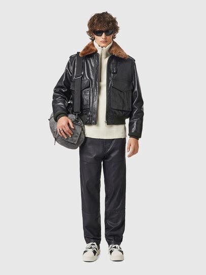 Diesel - L-WELTIK, Black - Leather jackets - Image 4