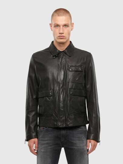 Diesel - L-LUC, Black - Leather jackets - Image 1