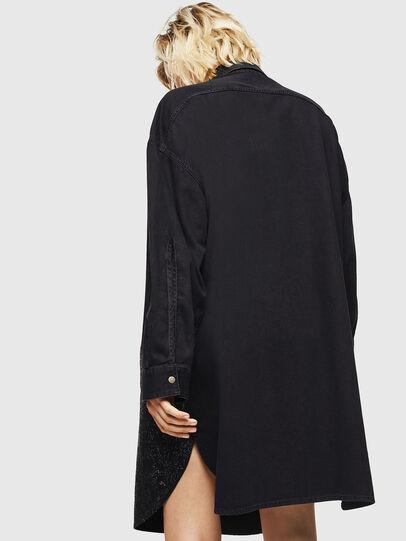 Diesel - DE-OBAX-SX, Black/Dark grey - Dresses - Image 2