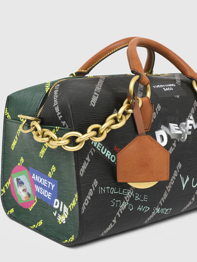 Diesel - TYLEBAG R, Black/Green - Travel Bags - Image 6