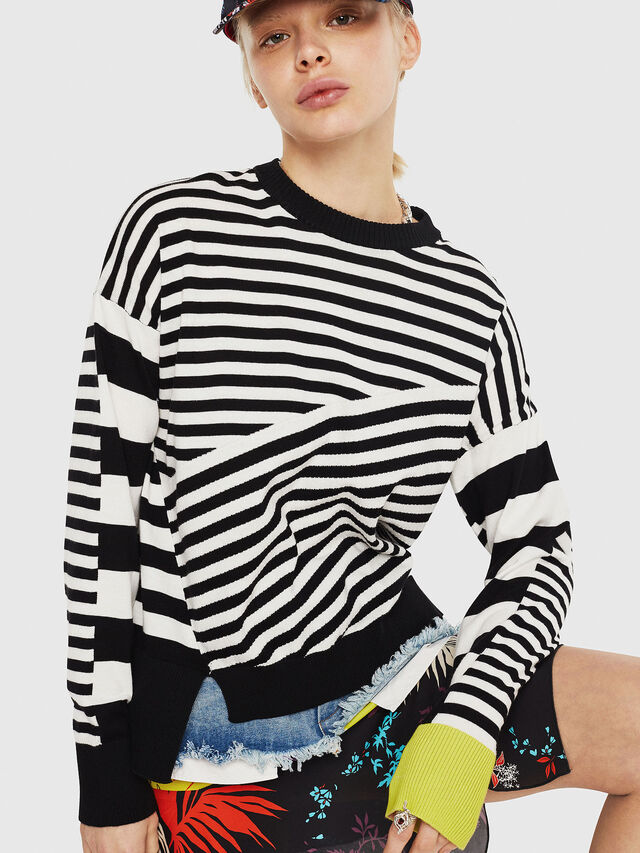 Diesel - M-LISY, Black/White - Knitwear - Image 4