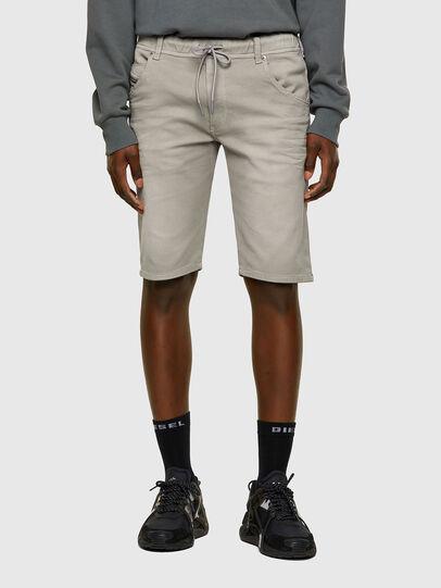 Diesel - D-KROOSHORT JOGGJEANS, Grey - Shorts - Image 1