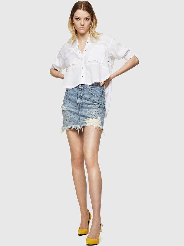 Diesel - DE-ELLE-S, Blue Jeans - Skirts - Image 6