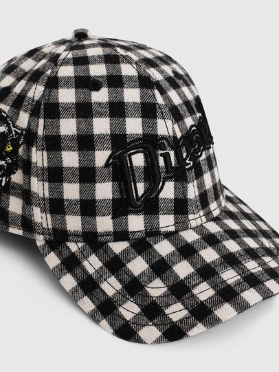 Diesel - CICHECK, Black/White - Caps - Image 3