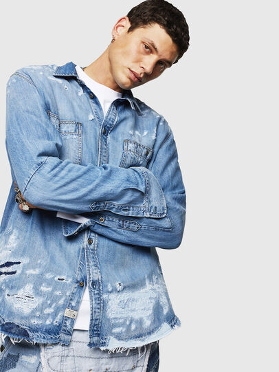 Diesel - D-FRED, Light Blue - Denim Shirts - Image 5