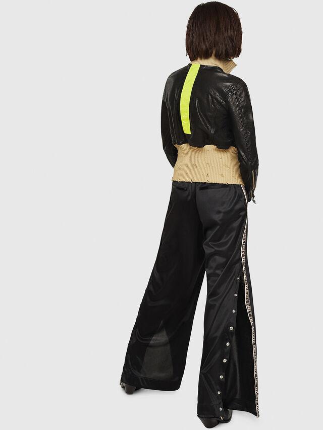 Diesel - L-LYS, Black/Beige - Leather jackets - Image 2