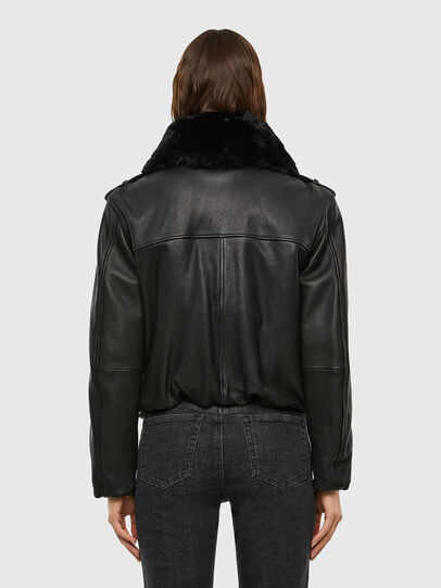 Diesel - L-LIV, Black - Leather jackets - Image 2
