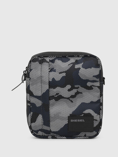 Diesel - ODERZO, Grey/Blue - Crossbody Bags - Image 1