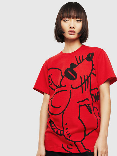 Diesel - CL-T-DIEGO-2, Red - T-Shirts - Image 2