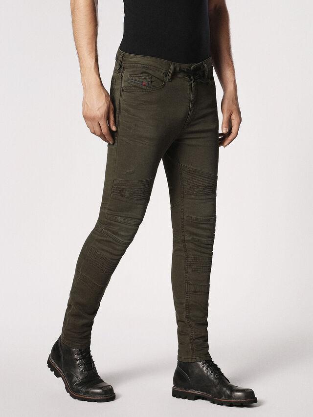 Diesel - BAKARI JOGGJEANS 0684T, Olive Green - Jeans - Image 3