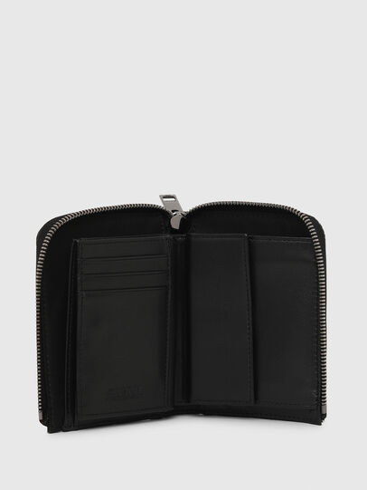 Diesel - L-12 ZIP, Black/White - Zip-Round Wallets - Image 3