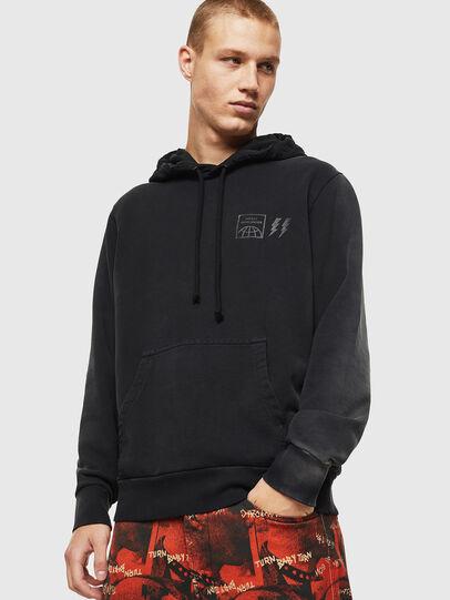Diesel - S-GIRK-HOOD-SUN, Black - Sweaters - Image 1