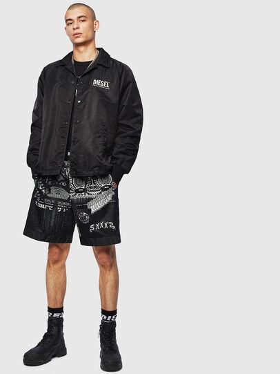 Diesel - P-KUMI-PRINT-A, Black - Shorts - Image 6
