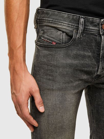 Diesel - Sleenker 009IS, Black/Dark grey - Jeans - Image 3