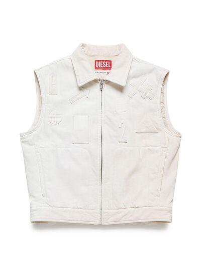 Diesel - GR02-J303, White - Denim Jackets - Image 1