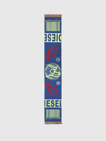 Diesel - S-BARCODE, Blue/Green - Scarf - Image 3