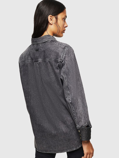 Diesel - DE-COLLY, Black/Dark grey - Denim Shirts - Image 2