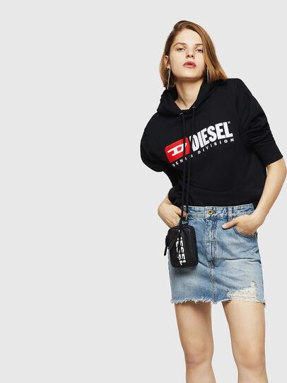 Diesel - F-GIR-HOOD-DIVISION-, Black - Sweaters - Image 5