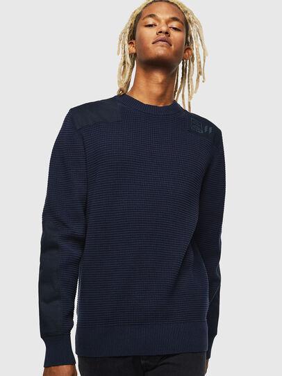 Diesel - K-LESTER, Dark Blue - Knitwear - Image 1