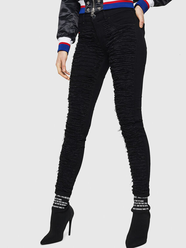 Dhary 0686M, Black/Dark grey - Jeans