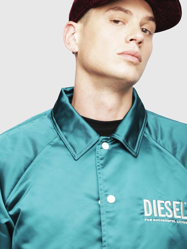 Diesel - J-AKIO, Dark Green - Jackets - Image 3