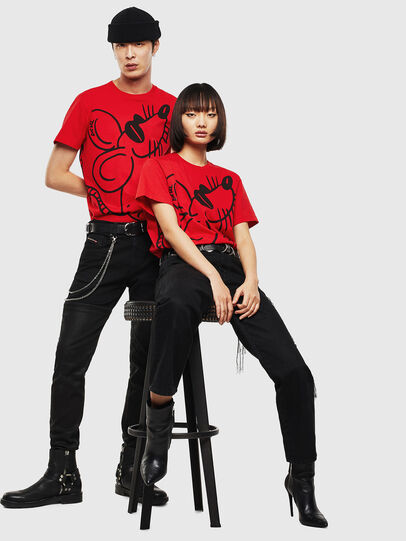 Diesel - CL-T-DIEGO-2, Red - T-Shirts - Image 5