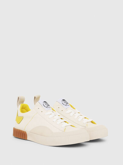 Diesel - S-BULLY LC W, White/Yellow - Sneakers - Image 2