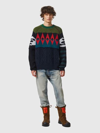 Diesel - K-GROVE, Green/Black - Knitwear - Image 4
